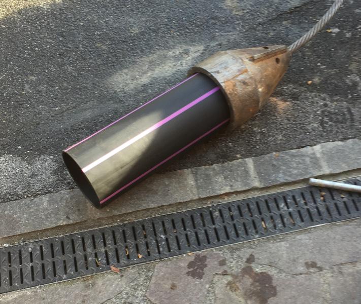 ТросовыйразрушительX 300 C  обновляет трубу для воды, TERRA 231 - 05