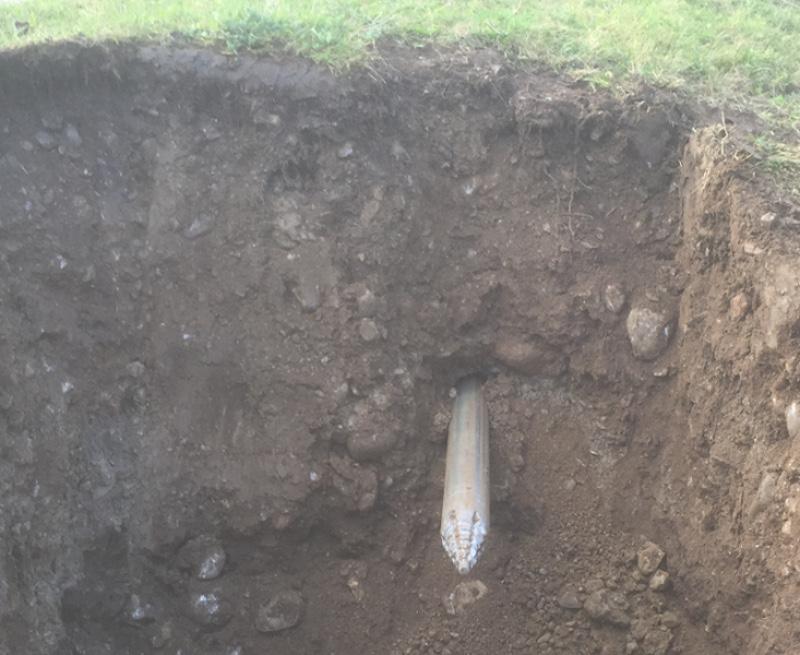 Прокладка под землёй помощью TERRA-HAMMER T 105 S, Фото 2