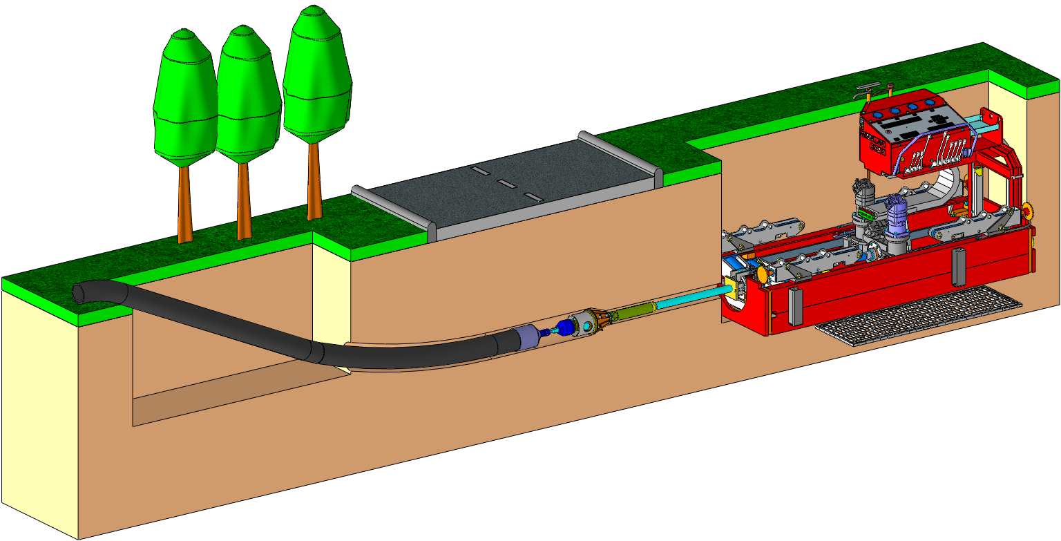 HDD Directional Drilling directly out of the pit
